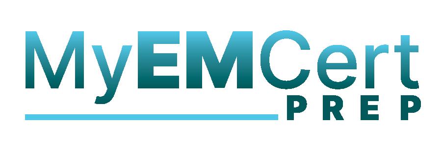 Teal MyEMCert Prep Logo